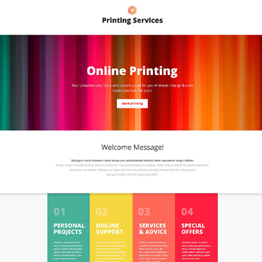 Landing Page Template # 53837