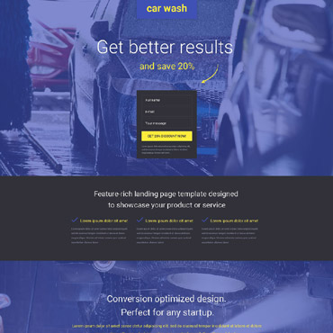 Landing Page Template # 53872