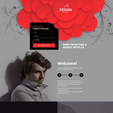 Landing Page Template # 53873
