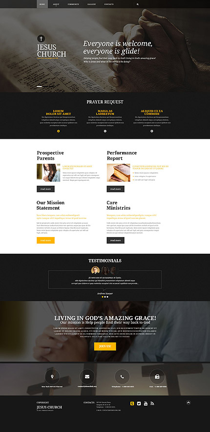 Religious Most Popular website inspirations at your coffee break? Browse for more Bootstrap #templates! // Regular price: $75 // Sources available: .HTML,  .PSD #Religious #Most Popular #Bootstrap