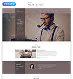 Responsive JavaScript Animated Template #53926