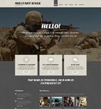 Military Rank WordPress Template