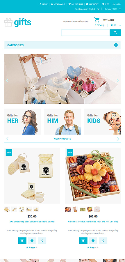 Gifts Most Popular website inspirations at your coffee break? Browse for more Magento #templates! // Regular price: $179 // Sources available: .PSD, .XML, .PHTML, .CSS #Gifts #Most Popular #Magento