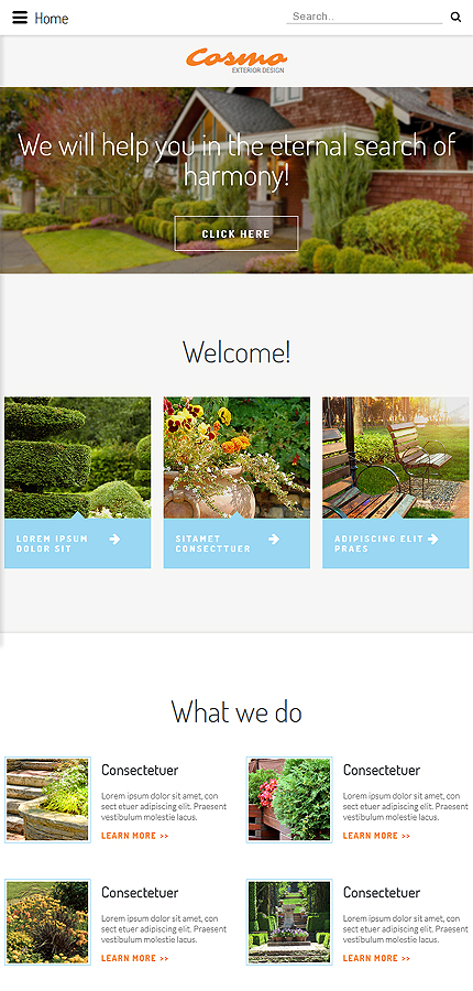 Template 54566 ensegna themes for Exterior design website templates