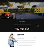 Responsive JavaScript Animated Template #54568