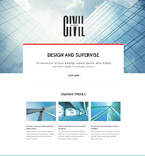 Civil Engineering Landing Page Template