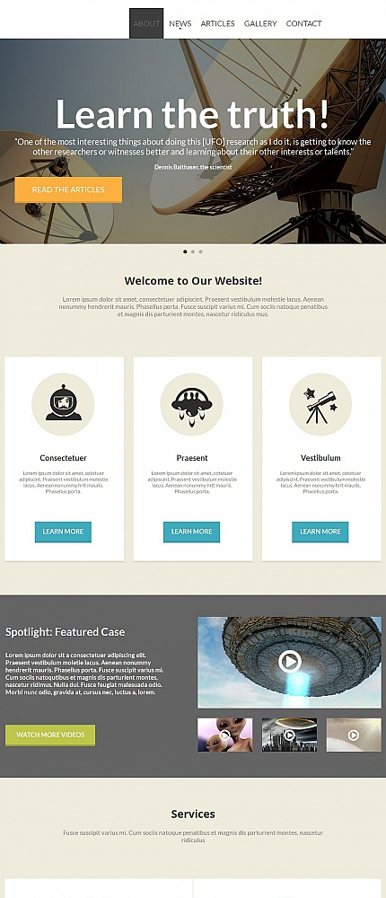 Science website inspirations at your coffee break? Browse for more Moto CMS HTML #templates! // Regular price: $139 // Sources available:<b>Sources Not Included</b> #Science #Moto CMS HTML
