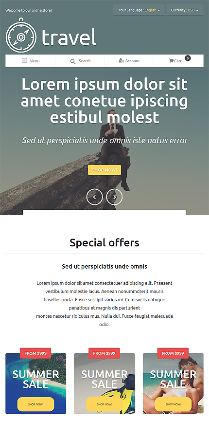 Travel Most Popular website inspirations at your coffee break? Browse for more Magento #templates! // Regular price: $179 // Sources available: .PSD, .XML, .PHTML, .CSS #Travel #Most Popular #Magento