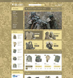 Military Equipment OpenCart Template