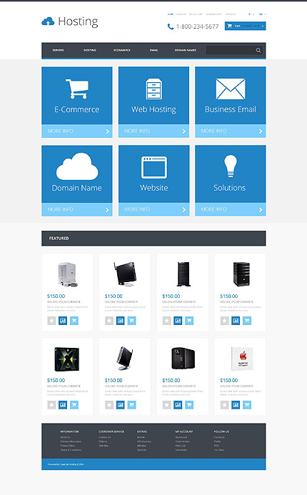 Hosting Most Popular website inspirations at your coffee break? Browse for more OpenCart #templates! // Regular price: $45 // Sources available: .PSD, .PNG, .PHP, .TPL, .JS #Hosting #Most Popular #OpenCart
