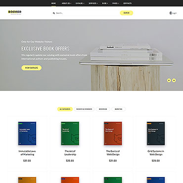 Book Reer Website Templates Library Literature Publishing Company