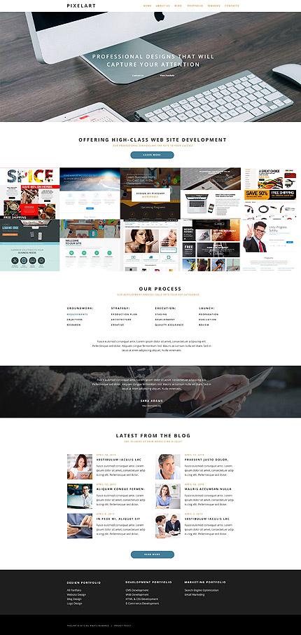 Pixel Art Premium WordPress Website Design Template