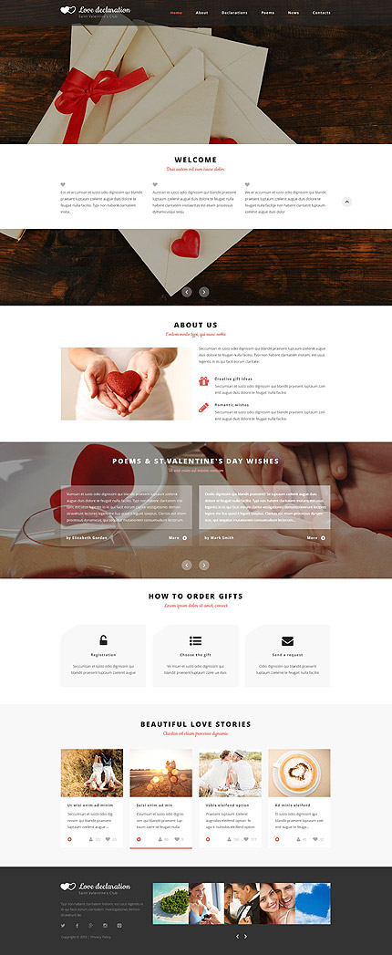 Most Popular St. Valentine website inspirations at your coffee break? Browse for more Responsive JavaScript Animated #templates! // Regular price: $69 // Sources available: .HTML,  .PSD #Most Popular #St. Valentine #Responsive JavaScript Animated