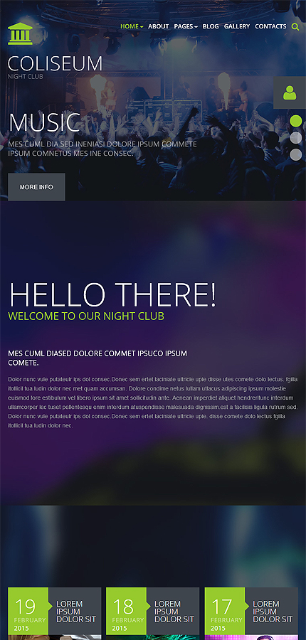 Night Club Most Popular website inspirations at your coffee break? Browse for more Joomla #templates! // Regular price: $75 // Sources available: .PSD, .PHP #Night Club #Most Popular #Joomla