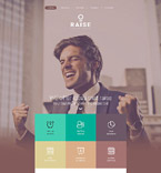 Responsive JavaScript Animated Template #55150