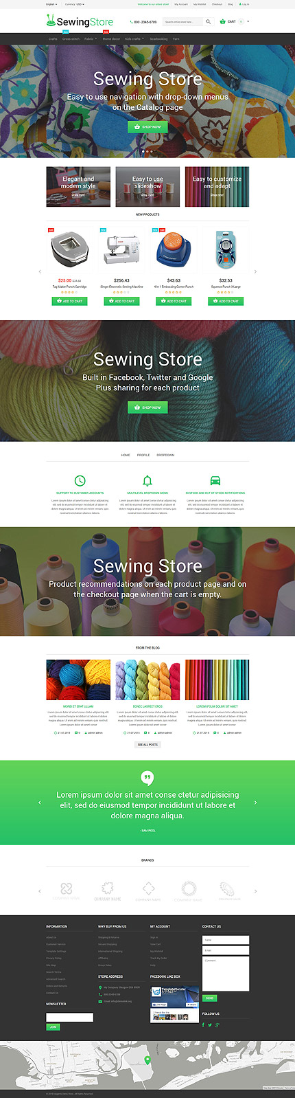 Most Popular Hobbies & Crafts website inspirations at your coffee break? Browse for more Magento #templates! // Regular price: $179 // Sources available: .PSD, .XML, .PHTML, .CSS #Most Popular #Hobbies & Crafts #Magento