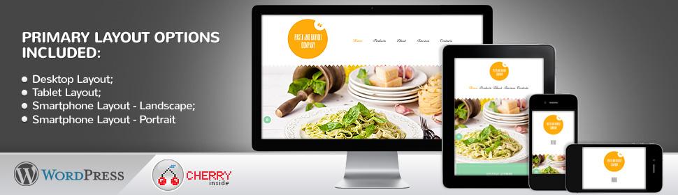 Pasta and Ravioli Company - Template WordPress