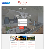 Rent Company Landing Page Template