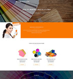Responsive JavaScript Animated Template #55242