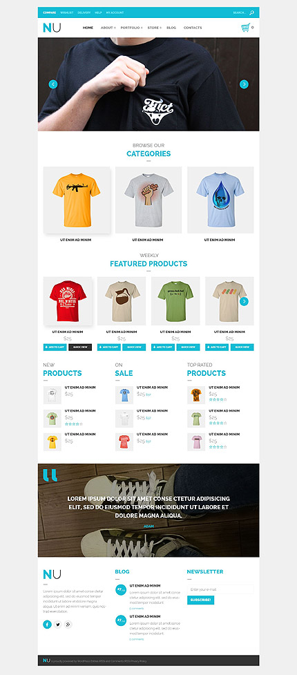 Responsive WooCommerce Theme for T-Shirts
