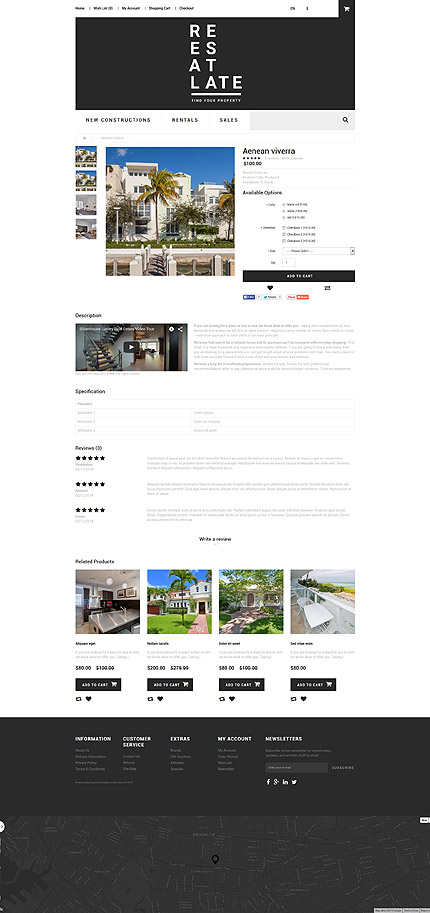 Real estate type opencart templates template 55257 for Opencart template editor