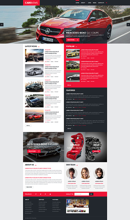 Cars Blog Joomla Template