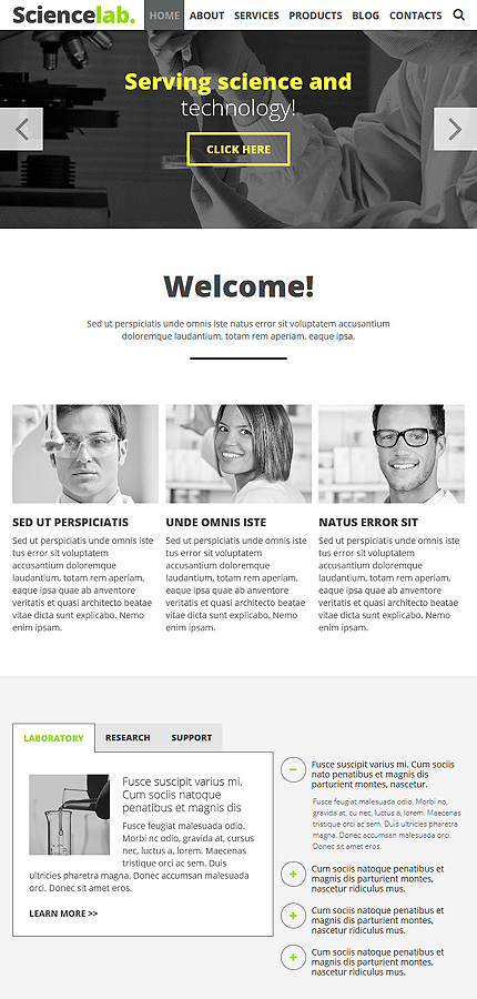 Science Most Popular website inspirations at your coffee break? Browse for more Joomla #templates! // Regular price: $75 // Sources available: .PSD, .PHP #Science #Most Popular #Joomla