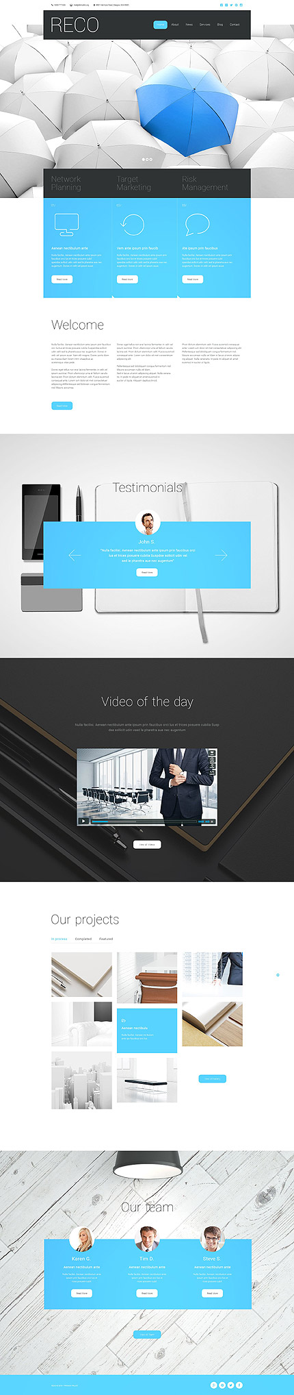 Business Type Website Templates Template 55292 Espresso