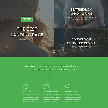 Landing Page Template # 55352