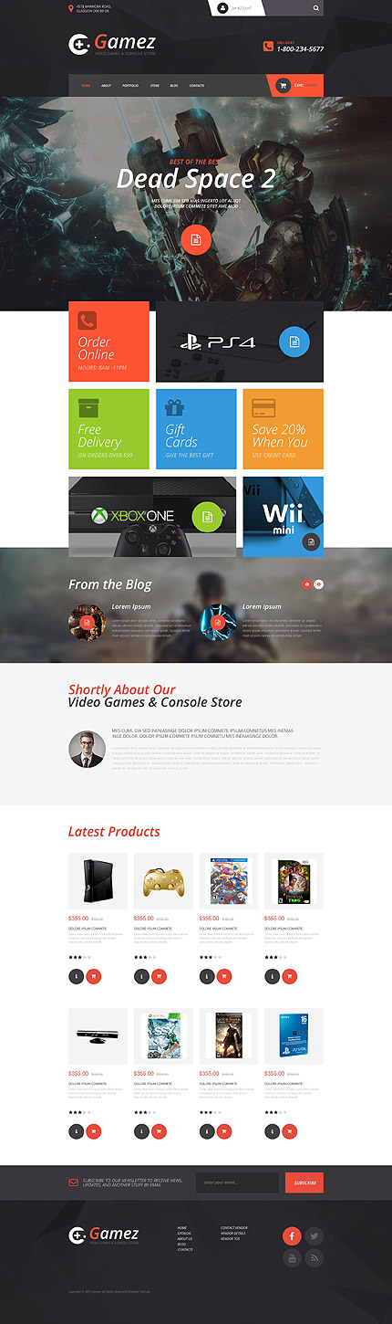 Games Most Popular website inspirations at your coffee break? Browse for more VirtueMart #templates! // Regular price: $139 // Sources available: .HTML,  .PSD, .PHP, .XML, .CSS, .JS #Games #Most Popular #VirtueMart