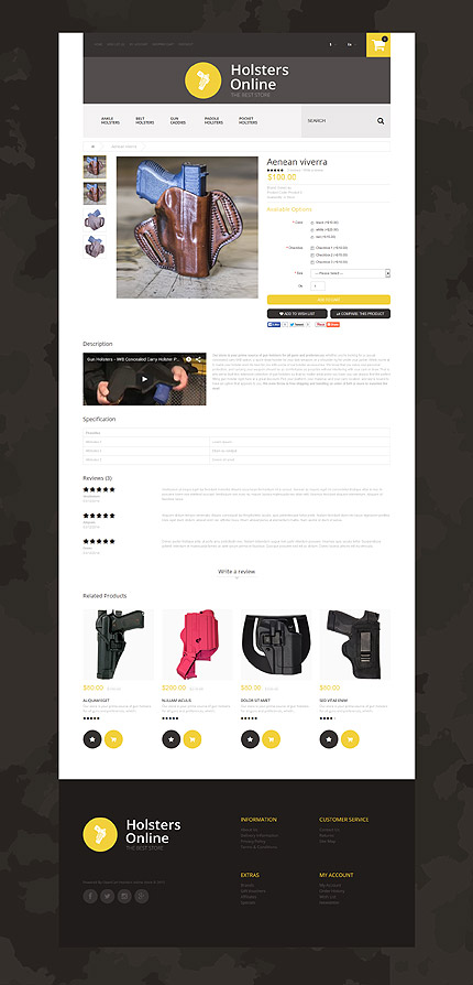 Military type opencart templates template 55382 for Opencart template editor