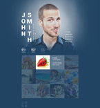 Responsive JavaScript Animated Template #55409