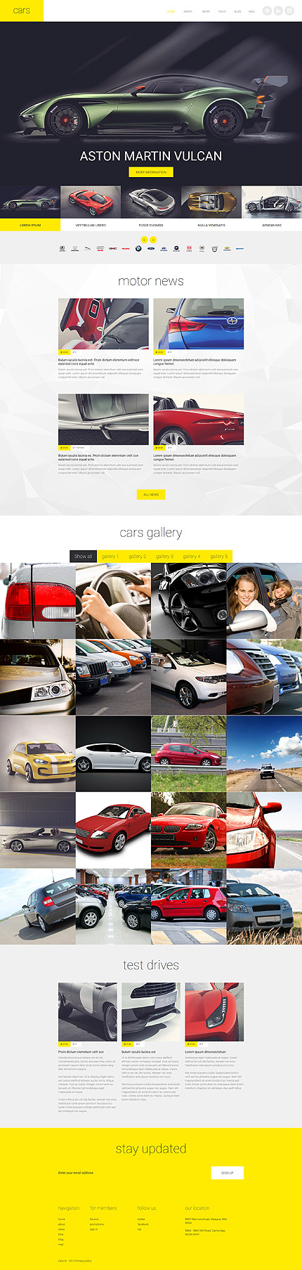 Motor News Joomla Template