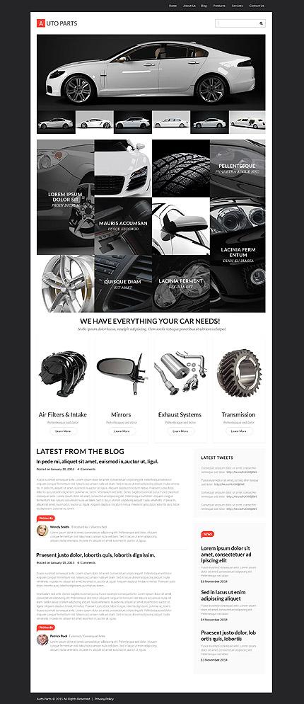 Auto Parts - Template WordPress