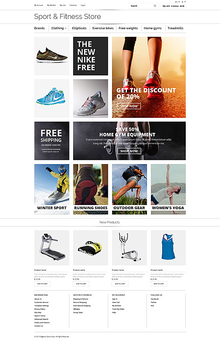 Sport website inspirations at your coffee break? Browse for more OsCommerce #templates! // Regular price: $139 // Sources available: .PSD, .PHP #Sport #OsCommerce