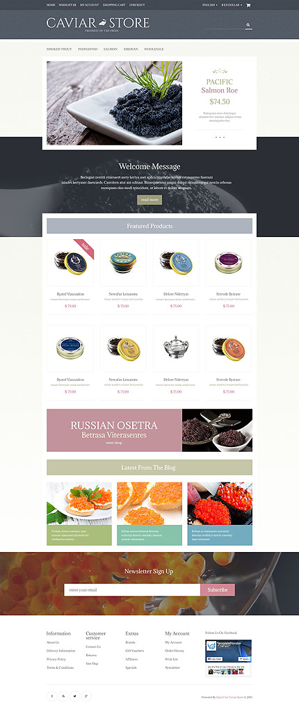 Food & Drink Most Popular website inspirations at your coffee break? Browse for more OpenCart #templates! // Regular price: $45 // Sources available: .PSD, .PNG, .PHP, .TPL, .JS #Food & Drink #Most Popular #OpenCart
