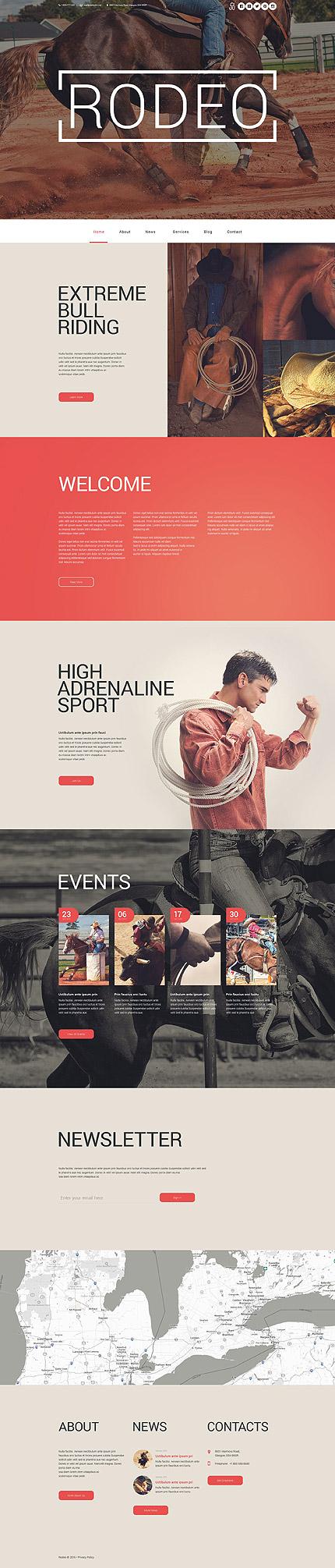 Premium Rodeo Arena WordPress Template