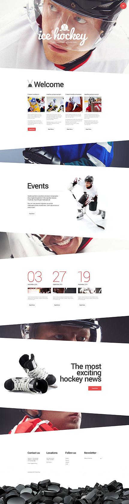 Premium Sports Blog Ice Hockey WordPress Theme