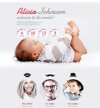 Baby Born Landing Page Template