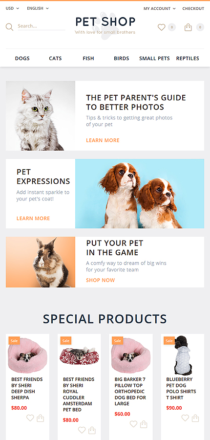 Animals & Pets Most Popular website inspirations at your coffee break? Browse for more OpenCart #templates! // Regular price: $45 // Sources available: .PSD, .PNG, .PHP, .TPL, .JS #Animals & Pets #Most Popular #OpenCart