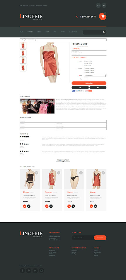 Fashion type opencart templates template 55700 for Opencart template editor