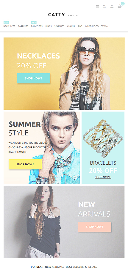 Jewelry Most Popular website inspirations at your coffee break? Browse for more PrestaShop #templates! // Regular price: $139 // Sources available: .PSD, .PHP, .TPL #Jewelry #Most Popular #PrestaShop
