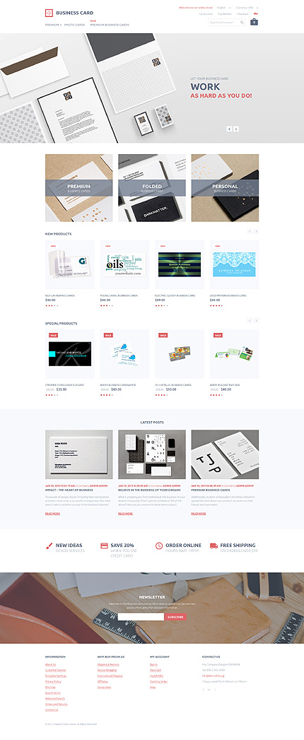 Business type magento themes template 55733 for Magento community templates