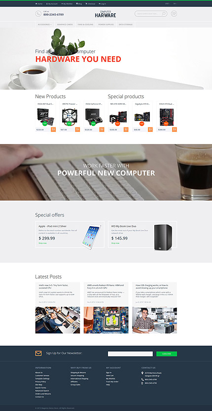 Computers type magento themes template 55736 for Magento community templates