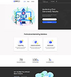 Responsive JavaScript Animated Template #55754