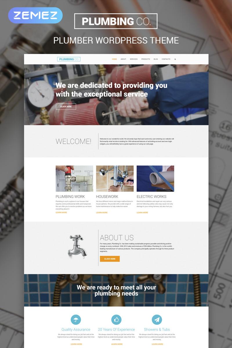 Plumbing Company WordPress Template