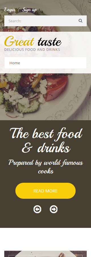 Food & Drink Most Popular website inspirations at your coffee break? Browse for more Drupal #templates! // Regular price: $75 // Sources available: .PSD, .PHP #Food & Drink #Most Popular #Drupal