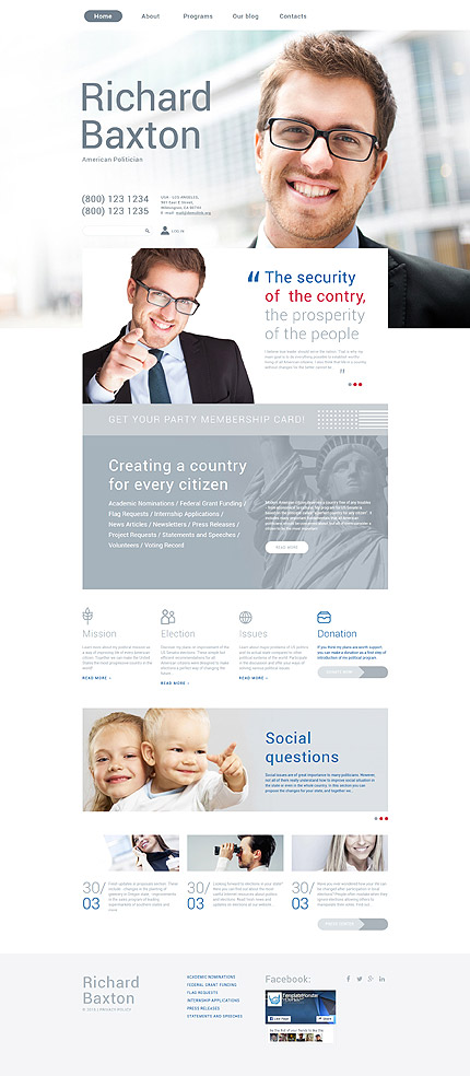 Politics Most Popular website inspirations at your coffee break? Browse for more Drupal #templates! // Regular price: $75 // Sources available: .PSD, .PHP #Politics #Most Popular #Drupal