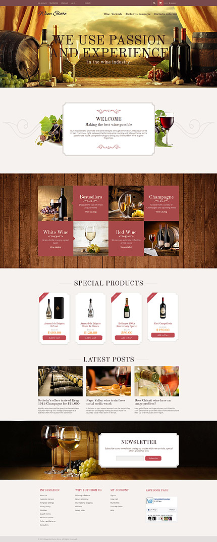 Food & Drink Most Popular website inspirations at your coffee break? Browse for more Magento #templates! // Regular price: $179 // Sources available: .PSD, .XML, .PHTML, .CSS #Food & Drink #Most Popular #Magento