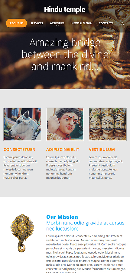 Religious Most Popular website inspirations at your coffee break? Browse for more Responsive JavaScript Animated #templates! // Regular price: $69 // Sources available: .HTML,  .PSD #Religious #Most Popular #Responsive JavaScript Animated